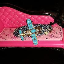 Swarovski Crystals & Bj Airplane Jewelry Barrette Sky Blue Photo