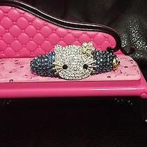 Swarovski Crystals & Bj  Hello Kitty Jewelry Barrette Denim Blue Nice Photo
