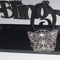 Swarovski Crystals &  Butterfly Jewelry Ponytail Holder Clear Photo