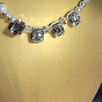 Swarovski Crystals Clear Rhinestones and Pearl Necklace Photo