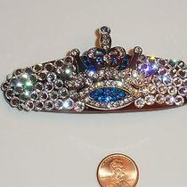 Swarovski Crystals & Crown Jewelry Barrette Handmade & Royal Photo