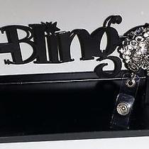 Swarovski Crystals & Crystal Bear Jewelry badge/i.d. Holder Clear Photo