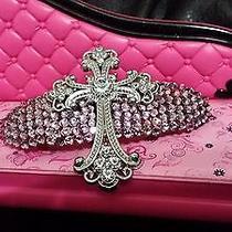 Swarovski Crystals & Crystal Cross Jewelry Barrette Lavender Wow Photo