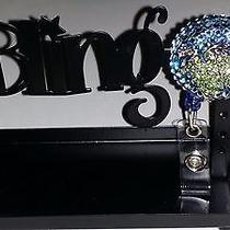 Swarovski Crystals & Crystal Frog Jewelry badge/i.d. Holder Blue Photo