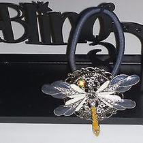 Swarovski Crystals & Dragonfly Jewelry Ponytail Holder Clear Photo