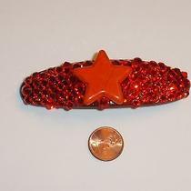 Swarovski Crystals & Gemstone Orange Star Barrette Handmade & Fun Photo
