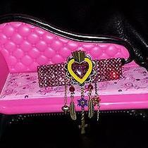 Swarovski Crystals & Heart W/charm Dangles Jewelry Barrette Pink Cool Photo