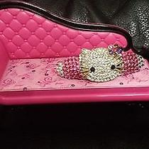 Swarovski Crystals & Hello Kitty Jewelry Barrette Pink/clear Cute Photo