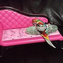 Swarovski Crystals & Large Parrot Jewelry Barrette Multi-Colors Nice Photo