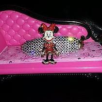 Swarovski Crystals & Minnie Mouse Bj Jewelry Barrette Fun Fun Photo