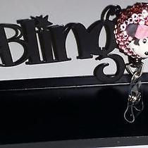 Swarovski Crystals & Minnie Mouse Jewelry badge/i.d. Holder Pink Photo