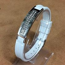 Swarovski Power Ion Bracelet  Stainless Crystal  Silicon Wristband Energy Band Photo