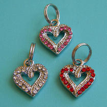 Swarovski White Open Heart Dangle Charm Photo