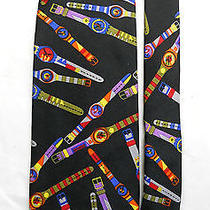 Swatch Watch Mens Neck Tie 100% Italian Silk Pierre Balmain Photo