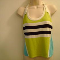 Swe Athletic Runner Tank Zemu Lime/aqua Large L Nwt 75 Photo