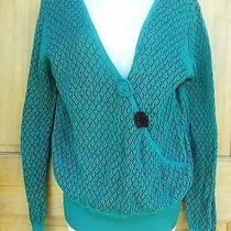 Sweater Open Knit Asymmetrical Pullover by Heather B Size Xl Nwt Dillards Photo