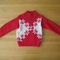 Sweater Ugly Christmas Holiday Sweater Eddie Bauer Medium Sweater  Photo