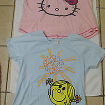 Sweet Lot of Ladies / Juniors Sanrio Hello Kitty & Mr Men Lil Miss T Shirts Xl Photo