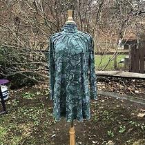 Sweet Pea Anthropologie L Teal/ Gray Turtleneck Dress Pockets Photo