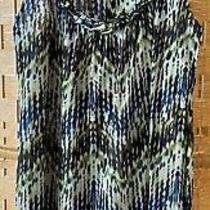 Sweet Pea Anthropologie Stacy Frati Nylon Mesh Top Tank Cami Blouse Blue Green S Photo