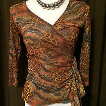 Sweet Pea by Johnny Heaven Anthropologie Sz S Animal Print Unique Crossover Rare Photo