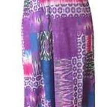 Sweet Pea Floral Print Mesh Maxi Patio Dress  Perfect M Photo