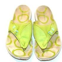 Sweet Pea Green Leather Gardena Merrell Thong Sandals sz.9 Photo