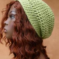 Sweet Pea Green Tam Hat Slouchy Crochet Rasta Hippie S Photo