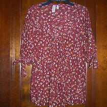 Sweet Pea Mesh Knit Tunic Daisy & Clover Top Sz M Nwot 0314 Photo