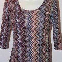 Sweet Pea Mimi Maternity Women's Shirt Multi Chevron Size Medium Free Shipping Photo
