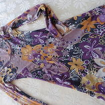 Sweet Pea Size M     Purples Gold  Long  Sleeve Fun Photo