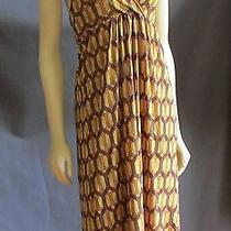 Sweet Pea Stacy Frati Med Yellow Retro Stained Glass Halter Sun Dress Photo