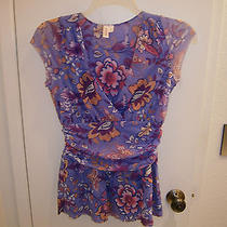 Sweet Pea Top Large v Neck Violet Photo