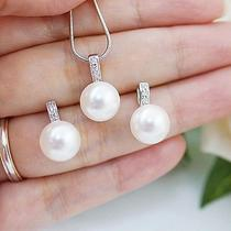 Sweet Swarovski Pearl Bridal Jewelry Set Photo