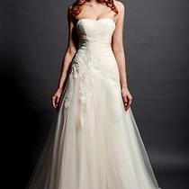 Sweetheart Blush Tulle/lace Wedding Dress Bridal Gown Dresses Dropped Waist Zip Photo