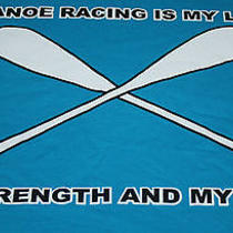 Swinomish Days Canoe Racing Is My Life My Strength and My Spirit T Shirt Xl Blue Photo