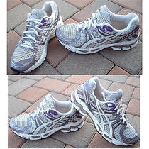 Sz 10  Asics Gel Kayano 17 Premium Cushion Running Shoes Purple  Zoom My Pics Photo