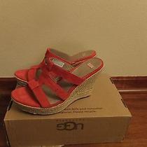 Sz 11 Womens Ugg Australia Tawnie Wedge Heel Sandals Shoes 1000404 Koi Red  Photo