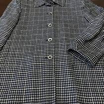 Sz 12 Land's End Womens Plaid Blazer Suit Jacket Black W/ Land's End Hanger Photo