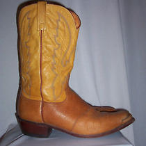 Sz 13 D  Lucchese Two Tone Smooth Ostrich 1883 Cowboy Work Boots Rancher Photo