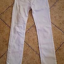 Sz 26 Ag Adriano Goldschmied Stevie Slim Straight Women's Jeans White Denim Photo