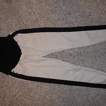 Sz 29 Hudson Maternity Leeloo Spr Skinny Crop Pants Bone/black a Pea in the Pod Photo