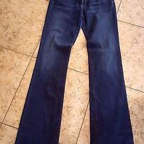 Sz 30 Ag Adriano Goldschmied Blue Jeans Angel Boot Cut Women Distress Denim Long Photo