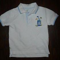 Sz 3t Florence Eiseman White Polo Style Shirt Golf Bag Applique Euc Photo