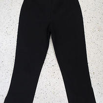 Sz 4 Pant Bebe Black Stretch Cotton Crop Length Flat Smooth Pant Photo