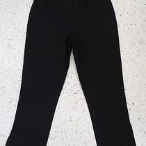 Sz 4 Pant Bebe Black Stretch Cotton Crop Length Flat Smooth Pant Photo