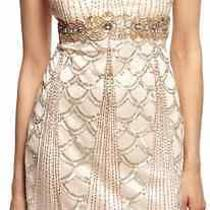 Sz 4  Sue Wong Beaded Flapper Dress 1920's Gatsby Bridal Wedding Blush Photo
