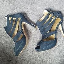 Sz 6 Charlotte Russe Denim Strappy Heel Sandal Photo