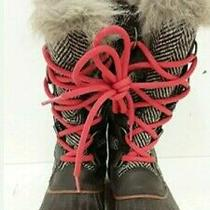sz.6 Womens Sorel Tweed and Faux Fur Winter Boots Photo