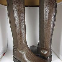 Sz 7.5 New Tory Burch Christy Coconut Leather Knee-High Boot Womens  495 Photo